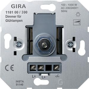 GIRA Dimmer 118100 Einsatz Druck/Wechsel Gl 100-1000 (118100)