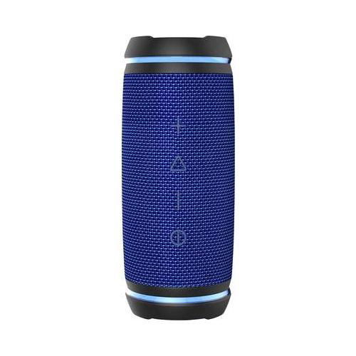 SWISSTONE BX 520 TWS blau BT Lautsprecher mit True Wireless Stereo-Funktion Freisprechen Wasserfest IPX6 LED-Ring 2x 12W (450116)