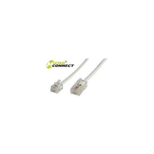 MicroConnect - Telefonleitungskabel - 1 m - weiß