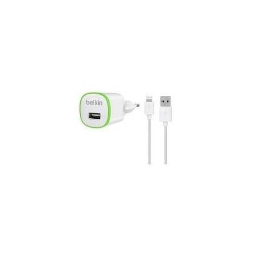 Belkin Home Charger with Charge-Sync Cable - Netzteil - 5 Watt - für Apple iPhone 5, 5c, 5s, 6, 6 Plus, iPod nano (7G), iPod touch (5G) (F8J025VF04-WHT)