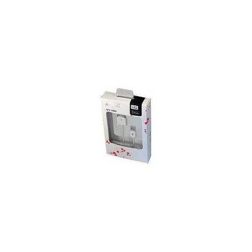 Xqisit - Lade-/Datenkabel - Apple Dock (M) bis USB (M) - 1 m - weiß - für Apple iPad/iPhone/iPod (Apple Dock)