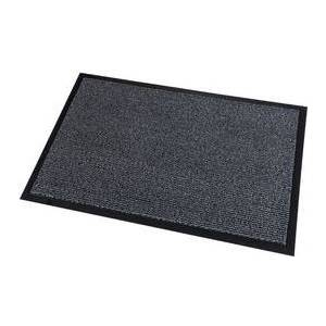 PAPERFLOW Schmutzfangmatte Super Budget (B)900 x (T)600 mm Farbe: grau, aus hochwertigem Polypropylen, Verlours-Optik, - 1 Stück (12TSB60X90.02)