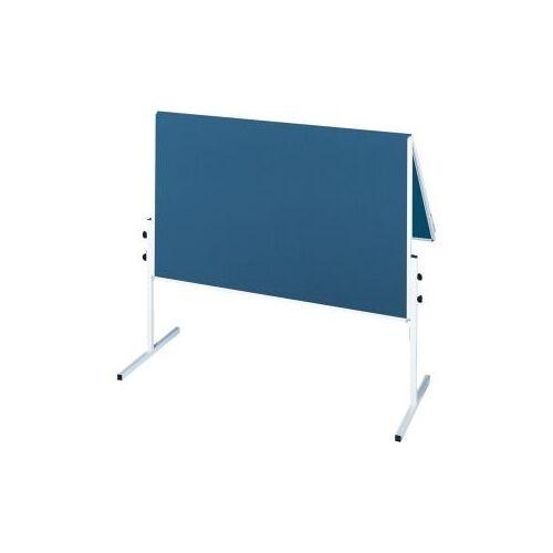 FRANKEN Moderationstafel X-tra!Line 120 x 150 cm, klappbar, Filz, blau Zusammenklappbar (CC-UMTF-G03)