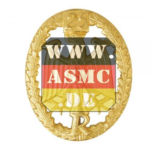 Leistungsabzeichen Reservisten Metall gold Zahl 25