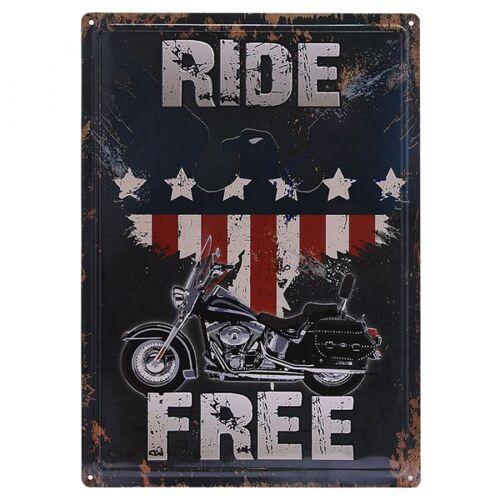 101 Inc. Metallschild Ride Free