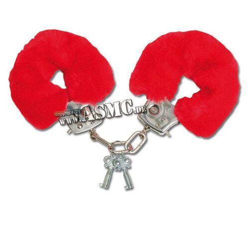 Plüsch-Handschellen rot