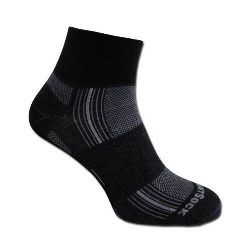 Wrightsock Socken Wrightsock Stride doppel-lagig schwarz