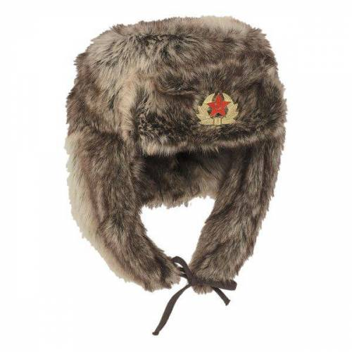 Mil-Tec Russische Wintermütze Shapka braun