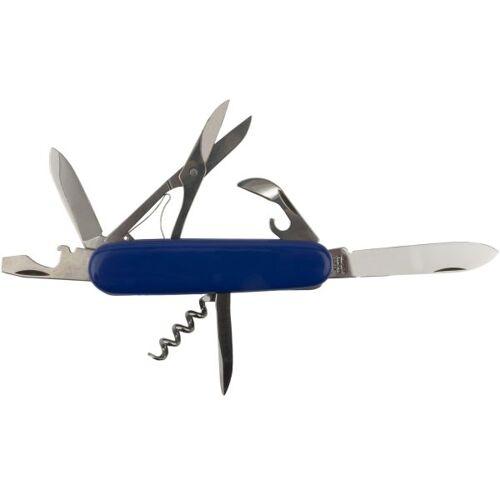 Mikov Taschenmesser mittelgroß mit Schere blau