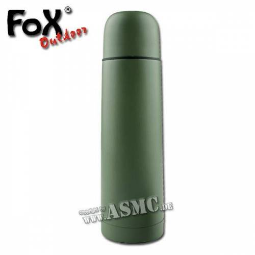 Fox Outdoor Vakuum Thermoflasche MFH 0,5 L oliv