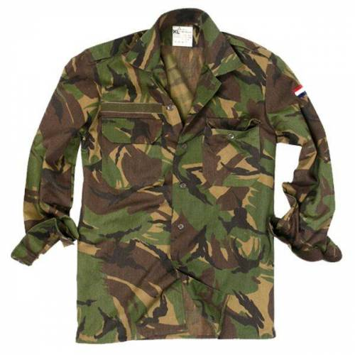 Holländische Armee Holländisches Feldhemd tarn gebraucht