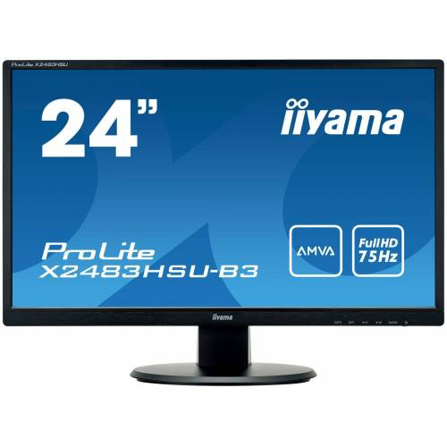 "IIYAMA 24"" 1920x1080, AMVA panel, 250cd/m², 4ms, VGA X2483HSU-B3"