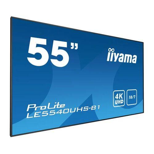 """IIYAMA 55"""" 3840 x 2160, 4K UHD AMVA3 panel, Fan-less LE5540UHS-B1"""