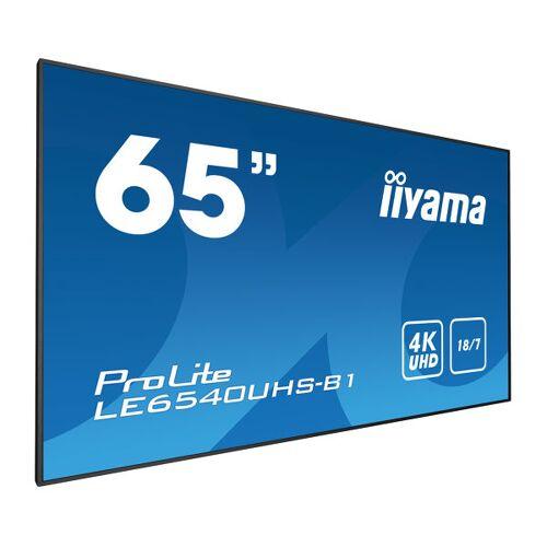 """IIYAMA 65"""" 3840 x 2160, 4K UHD AMVA3 panel, Fan-less LE6540UHS-B1"""