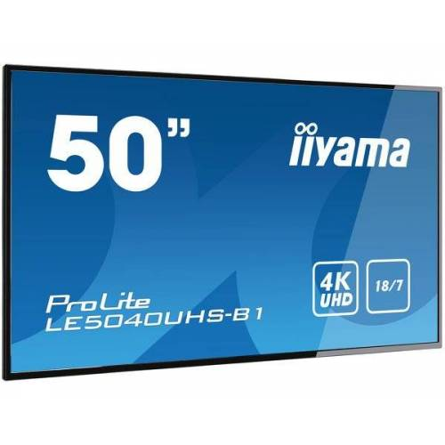 """IIYAMA 50"""" 3840 x 2160, 4K UHD AMVA3 panel, Fan-less LE5040UHS-B1"""
