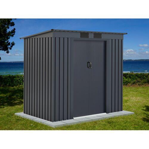 Dancover Geräteschuppen Metallgerätehaus mit Flachdach 2,01x1,21x1,76m ProShed®, Anthrazit
