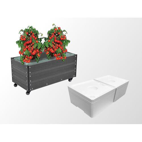 Dancover Pflanzkübel mit Rädern inkl. Kapillarbewässerungssystem, 0,5x0,9x0,36m, Anthrazit