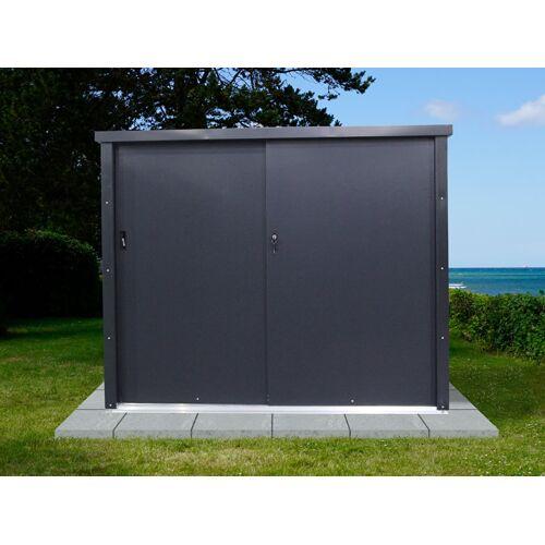 Dancover Geräteschuppen Metallgerätehaus/Metallschrank mit Schiebetür 1,65x0,8x1,31m, ProShed®, anthrazit