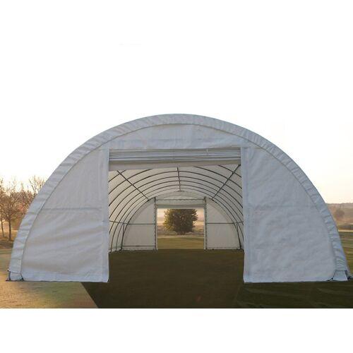 Dancover Rundbogenhalle Lagerzelt 9,15x12x4,5m, PVC, Weiß