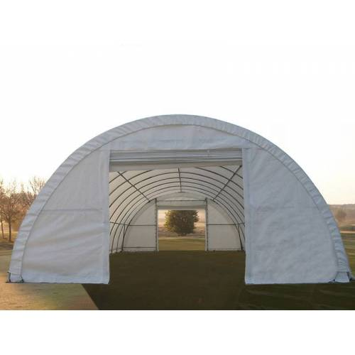 Dancover Rundbogenhalle Lagerzelt 9,15x20x4,5m, PVC, Weiß