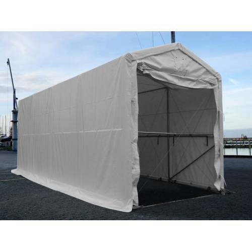Dancover Lagerzelt PRO XL Bootszelt Zeltgarage Garagenzelt PRO XL 3,5x8x3,3x3,94m, PVC, Weiß