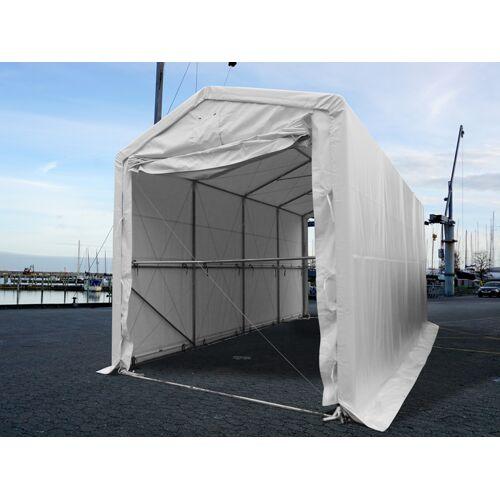 Dancover Lagerzelt PRO XL Bootszelt Zeltgarage Garagenzelt PRO XL 4x10x3,5x4,59m, PVC, Weiß