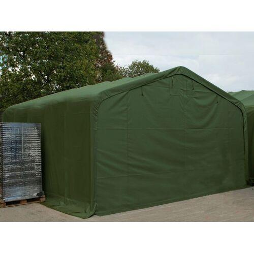 Dancover Lagerzelt Zeltgarage Garagenzelt PRO 6x18x3,7m PVC mit Dachfenster, Grün