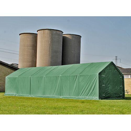 Dancover Lagerzelt Zeltgarage Garagenzelt PRO 7x14x3,8m PVC mit Dachfenster, Grün