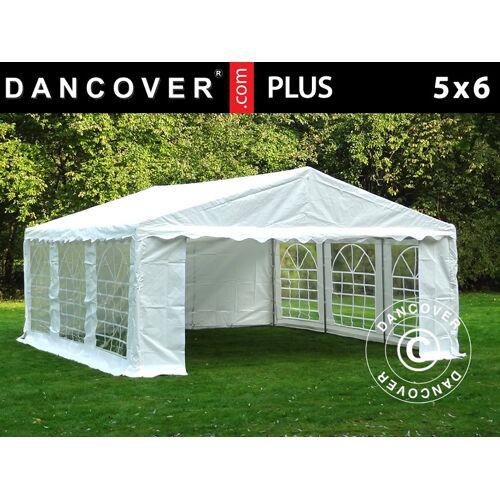 Dancover Partyzelt Festzelt PLUS 5x6m PE, Weiß