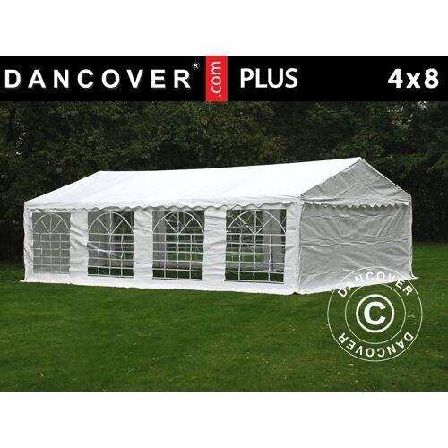 Dancover Partyzelt Festzelt PLUS 4x8m PE, Weiß