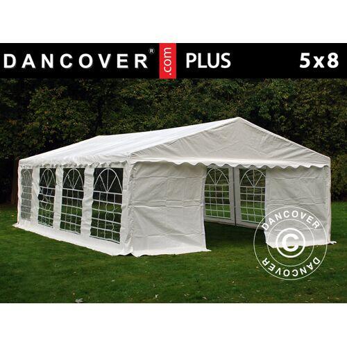 Dancover Partyzelt Festzelt PLUS 5x8m PE, Weiß