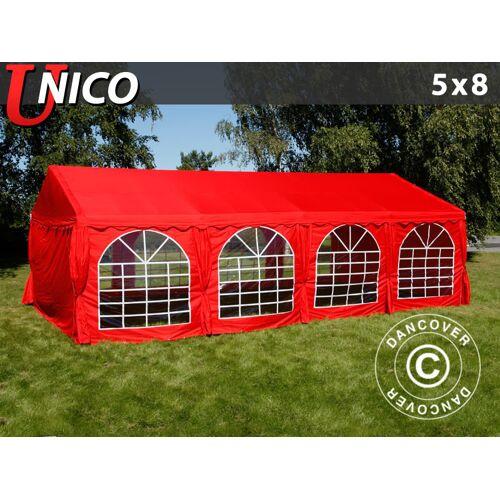 Dancover Partyzelt Festzelt UNICO 5x8m, Rot