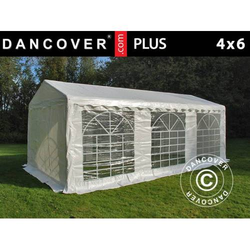 Dancover Partyzelt Festzelt PLUS 4x6m PE, Weiß