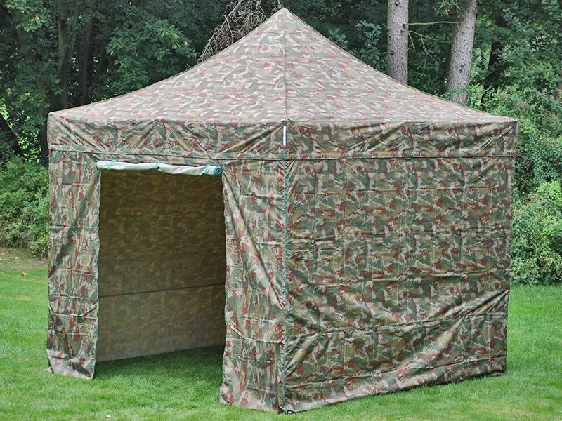 Dancover Faltzelt Faltpavillon Wasserdicht FleXtents PRO 3x3m Camouflage, mit 4 Seitenwänden