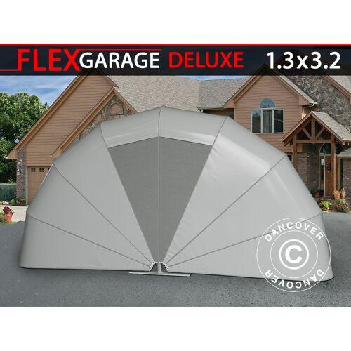 Dancover Faltgarage (Motorrad), 1,3x3,2x1,6m, grau