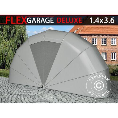 Dancover Faltgarage (Motorrad), 1,4x3,6x1,8m, grau