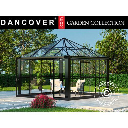 Dancover Orangerie/Pavillon Glas 8,7m², 2,95x2,95x2,7m, mit Fundament, schwarz
