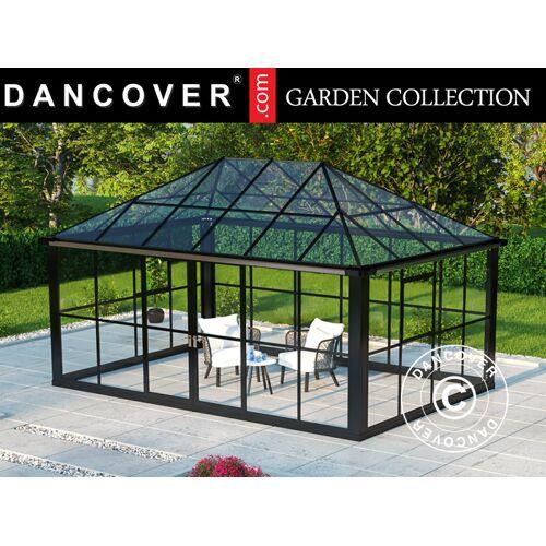 Dancover Orangerie/Pavillon Glas 12,86m², 4,36x2,95x2,7m, mit Fundament, schwarz
