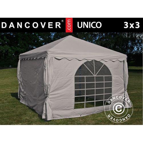 Dancover Partyzelt Festzelt UNICO 3x3m, Sand