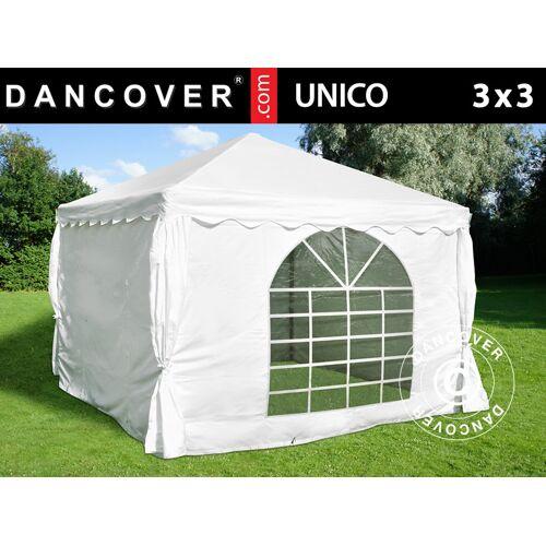Dancover Partyzelt Festzelt UNICO 3x3m, Weiß