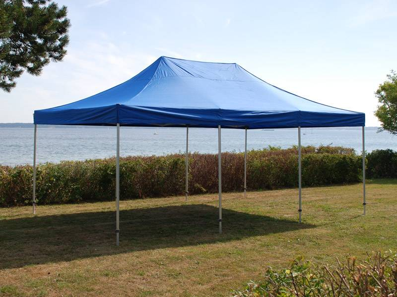 Dancover Faltzelt Faltpavillon Wasserdicht FleXtents PRO 4x8m Blau