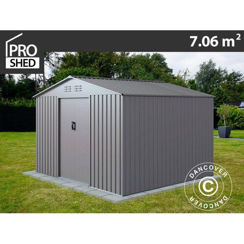 Dancover Geräteschuppen Metallgerätehaus 2,77x2,55x1,92m ProShed®, Aluminium Grau