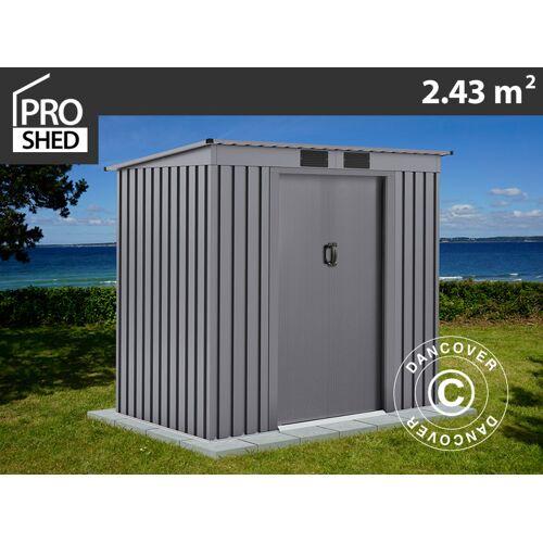 Dancover Geräteschuppen Metallgerätehaus mit Flachdach 2,01x1,21x1,76m ProShed®, Aluminiu