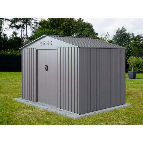Dancover Geräteschuppen Metallgerätehaus 2,77x1,91x1,92m ProShed®, Aluminium Grau