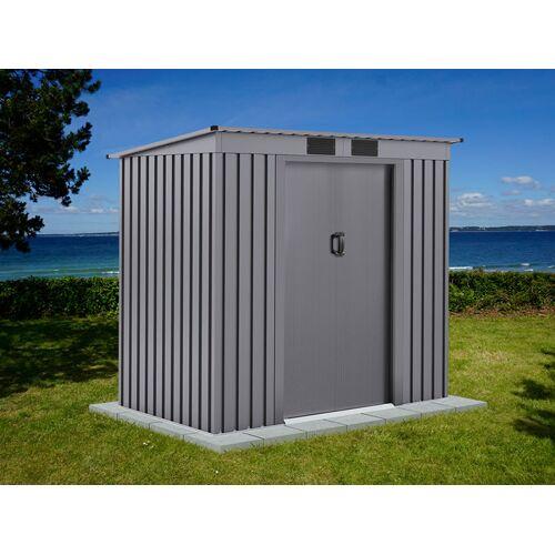 Dancover Geräteschuppen Metallgerätehaus mit Flachdach 2,01x1,21x1,76m ProShed®, Aluminium Grau