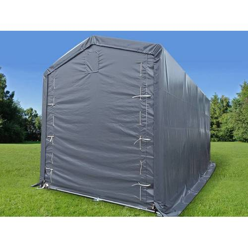 Dancover Lagerzelt PRO XL Bootszelt Zeltgarage Garagenzelt PRO XL 3,5x8x3,3x3,94m, PVC, Grau