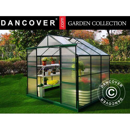 Dancover Polycarbonat-Gewächshaus ZEN 4,53m², 2,45x1,85x2,1m, grün