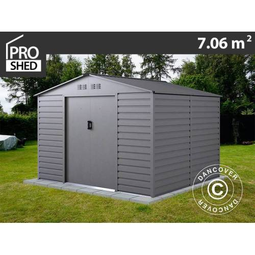 Dancover Geräteschuppen Metallgerätehaus 2,77x2,55x1,98m ProShed®, Aluminium Grau