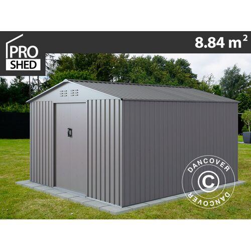 Dancover Geräteschuppen Metallgerätehaus 2,77x3,19x1,92m ProShed®, Aluminium Grau