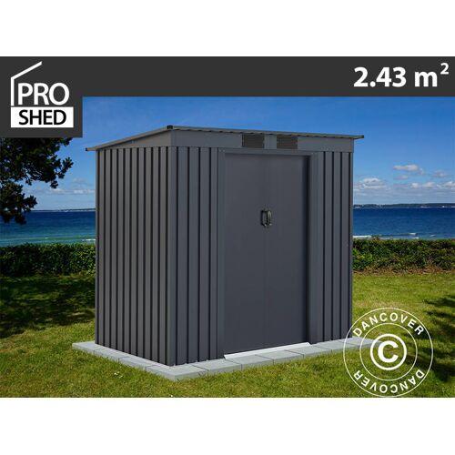 Dancover Geräteschuppen Metallgerätehaus mit Flachdach 2,01x1,21x1,76m ProShed®, Anthrazi